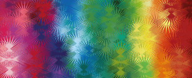 Abstract rainbow background with thorns Stock Photo