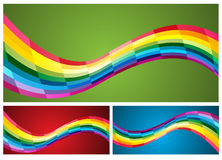 Abstract rainbow background. Vector. Clip-art Royalty Free Stock Image