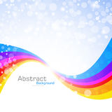 Abstract rainbow background. Vector Illustration. Clip-art Royalty Free Stock Photo