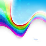 Abstract rainbow background. Vector Illustration Stock Image