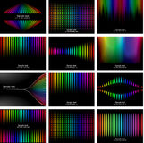Abstract rainbow bark colour background collection Stock Photography