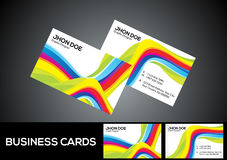 Abstract rainbow business card Royalty Free Stock Photography