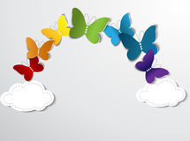 Abstract rainbow from  butterflies. Abstract illustration. Suits well  for design Royalty Free Stock Photo