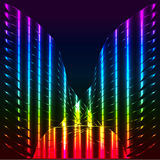 Abstract rainbow butterfly, angel wings, symmetric  background Stock Photos