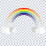 Abstract rainbow cartoon on background vector stock illustration