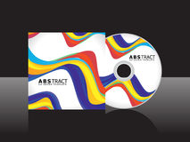Abstract rainbow cd cover Stock Photos