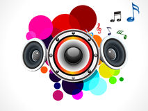 Abstract rainbow circle based sound Royalty Free Stock Photography
