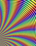 Rainbow abstract circles refraction fractal background pattern Royalty Free Stock Photo