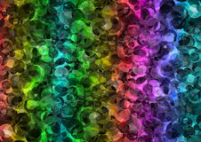 Abstract rainbow color bokeh wallpaper Royalty Free Stock Images