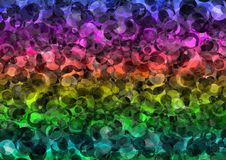 Abstract rainbow color bokeh wallpaper Stock Photography
