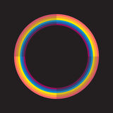 Abstract rainbow color circle with light and dark Royalty Free Stock Photos