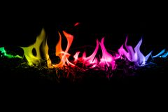 Abstract Rainbow Color  Fire Flames