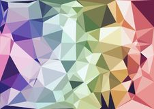 Abstract rainbow color low poly bokeh wallpaper Stock Image