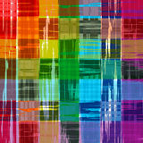Abstract rainbow color paint grunge plaid art pattern background Stock Photos
