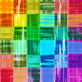 Abstract rainbow color paint grunge plaid art pattern background Royalty Free Stock Image