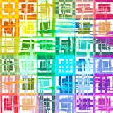 Abstract rainbow color paint grunge plaid art pattern background Stock Images