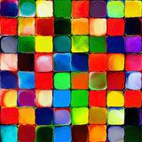 Abstract rainbow color paint tiles pattern art background vector illustration