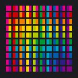 Abstract rainbow color palette combination. In rectangle shapes. vector illustration stock illustration