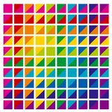 Abstract rainbow color palette combination in triangle shapes. v. Ector illustration royalty free illustration