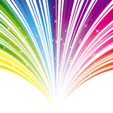Abstract rainbow color stripe background Stock Photos