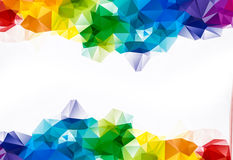 Abstract rainbow color Triangle Geometrical Background. With space for your text Stock Images