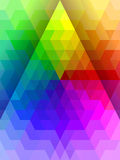Abstract rainbow color triangle with white line texture Stock Photography