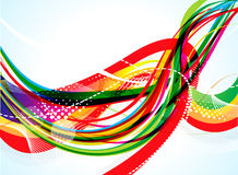 Abstract rainbow color wave background design Stock Images