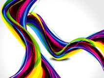 Abstract rainbow color wave Stock Image