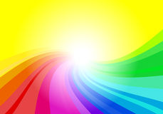 Abstract rainbow colored background Stock Photo