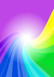 Abstract rainbow colored background Stock Photography
