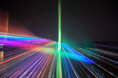 Abstract rainbow colored lighting blur Royalty Free Stock Photography