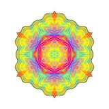 Abstract rainbow colored mandala, Flower isolated on white background, Multicolor bloom, Colorful esoteric petal mandala. Abstract rainbow colored mandala Stock Photos