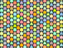 Abstract rainbow colored pattern backdrop Stock Image