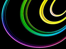 Abstract Rainbow Colored Ribbons Stock Photo