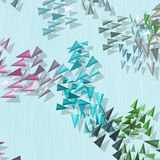 Abstract rainbow colored spikes wallpaper Royalty Free Stock Photos