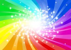 Abstract rainbow colored star background Royalty Free Stock Photos