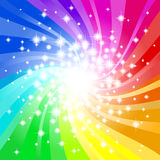 Abstract rainbow colored star background. Vector illustration of a abstract rainbow colored star background Stock Photos