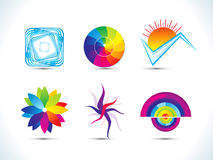 Abstract rainbow colorful design elemnts Royalty Free Stock Photography