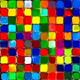 Abstract rainbow colorful tiles mozaic painting geometric pallette pattern background Stock Image