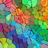 Abstract rainbow colorful tiles mozaic painting geometric pallette pattern background on wall Stock Photos