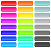 Abstract rainbow colorful vector curve lines background Stock Images