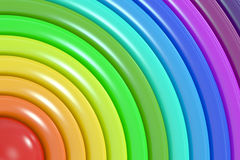 Abstract rainbow colors background. 3D rendering Royalty Free Illustration