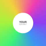 Abstract rainbow colors background with white circle text box Royalty Free Stock Image