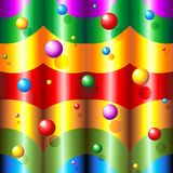 Abstract Rainbow Colors and Bubbles Pattern. Fantasy rainbow Colors Abstract Design Royalty Free Stock Images