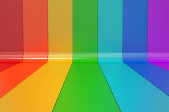 Abstract rainbow colors lines background. 3D rendering royalty free illustration