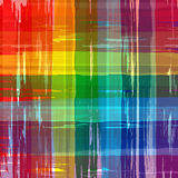 Abstract rainbow colors plaid background Stock Image