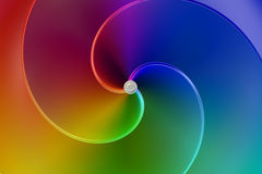 Abstract rainbow colors spiral background. Abstract rainbow colors spiral 3D Stock Photos