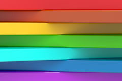 Abstract rainbow colors strips background, 3D rendering. Abstract rainbow colors background 3D Royalty Free Stock Photography