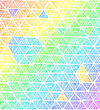 Abstract rainbow colors triangles Stock Image