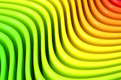 Abstract rainbow colors wave background, 3D rendering. Abstract rainbow colors wave background Stock Image
